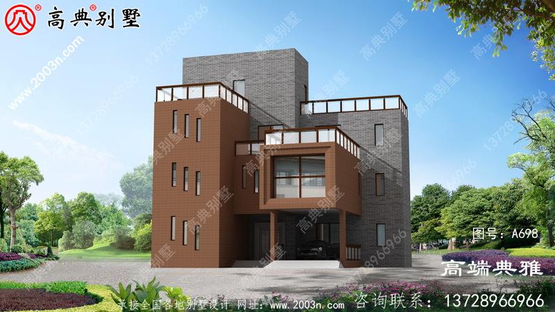 奢华现代四层住宅设计方案,附有外观和效果图