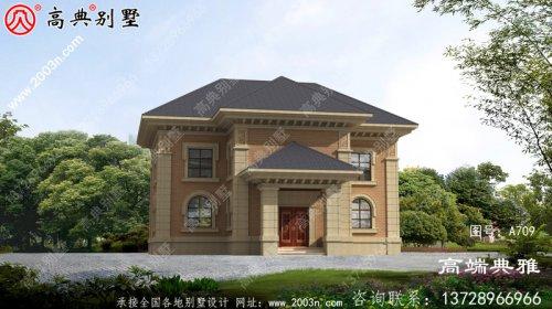 简欧两层别墅的设计设计效果图,造价低又实用