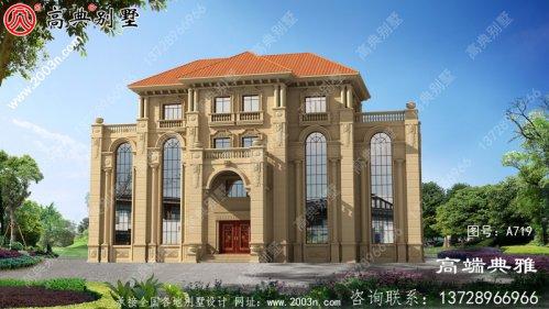 高档豪华四层别墅住宅设计方案,欧式外观