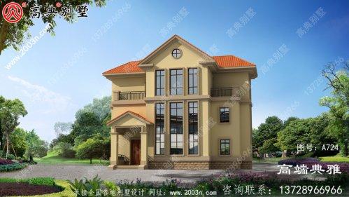 147平方的三层建筑设计,推荐由新农村住宅自建