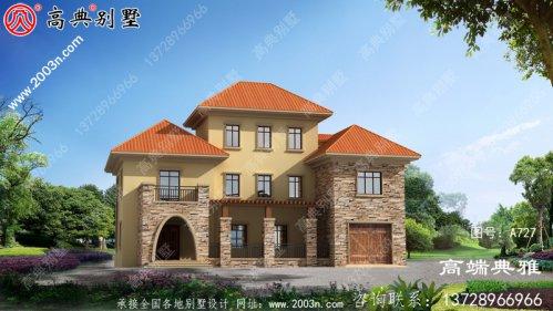 占地222平方米的欧式三层住宅设计