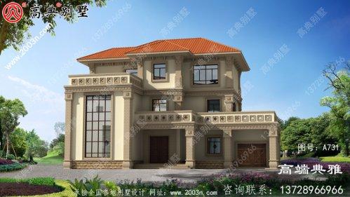 占地175平方米欧式三层别墅住宅设计,包括外观