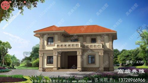191平方米的简欧两层别墅的设计图清新典雅。