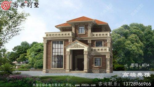 整套欧式古典二层别墅设计cad工程图纸,含设计