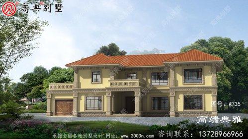 全套欧式两层别墅设计cad图纸,包括效果图,带