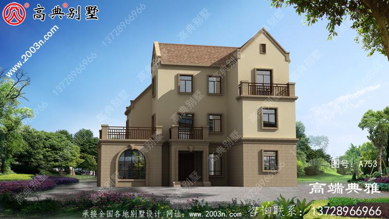 160平米农村三层别墅装修效果图带CAD建筑图