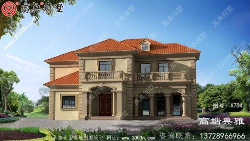 带复式设计的简欧二层别墅设计效果图附CAD建筑
