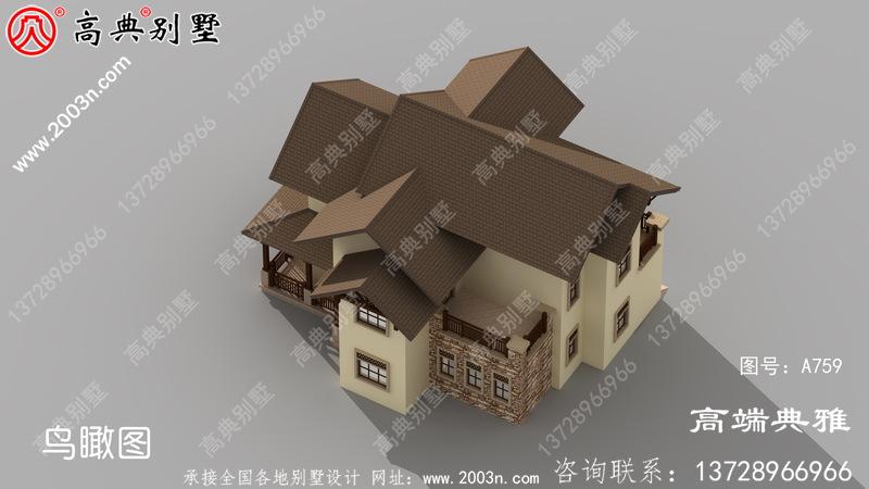 独栋三层别墅设计图,家里人多也拥挤