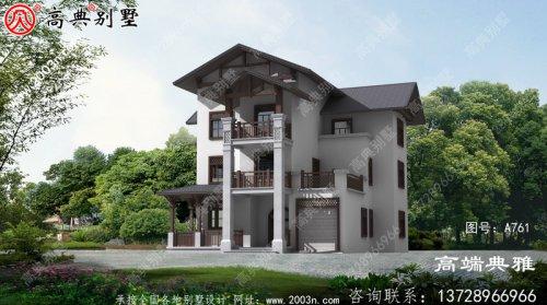 农村自建三层别墅室内布局合理,外观好看