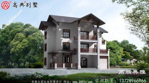 农村建造三层别墅型设计图,复古