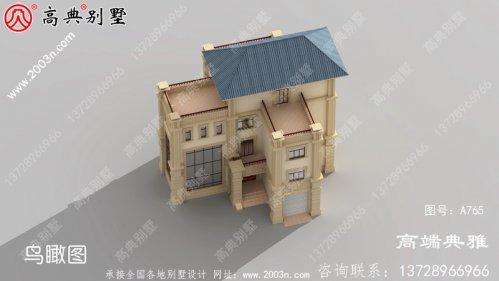 最新款欧式古典四层别墅楼房设计图,外型清爽