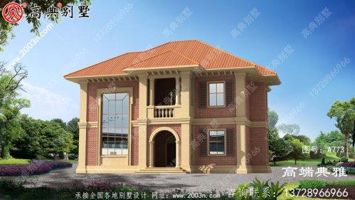 欧式古典两层别墅设计图及欧式效果图,工程造