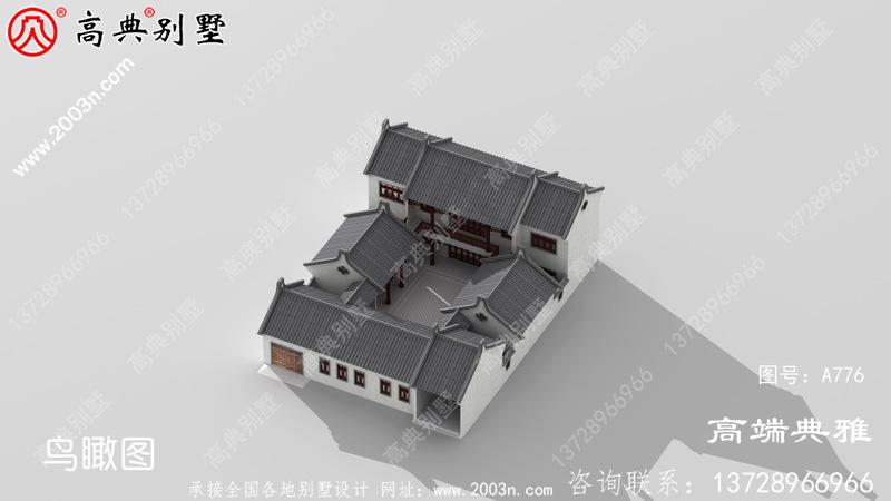 新中式两层别墅的设计图,占地419平方米