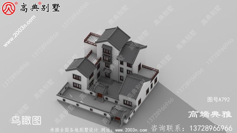 带露台的中式别墅图片及设计图,户型方案比较经典