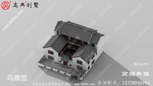 实用的中式三层新农村住宅设计、