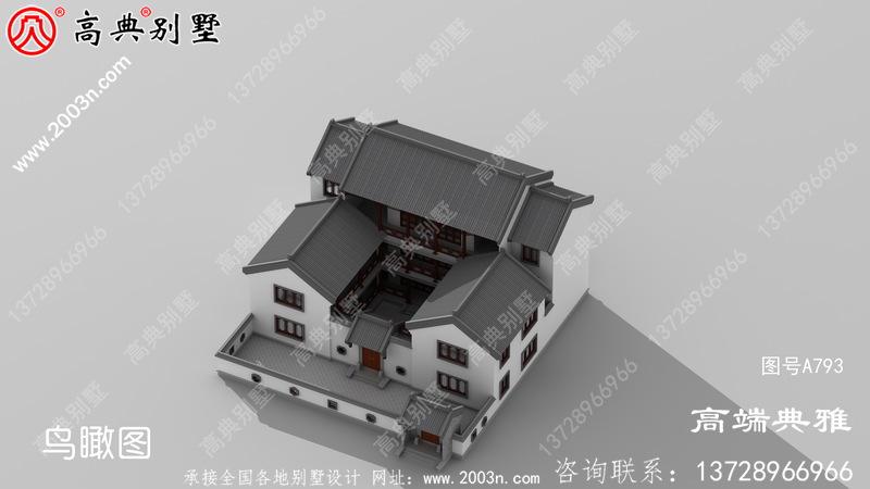 实用的中式三层新农村住宅设计、农村别墅设计