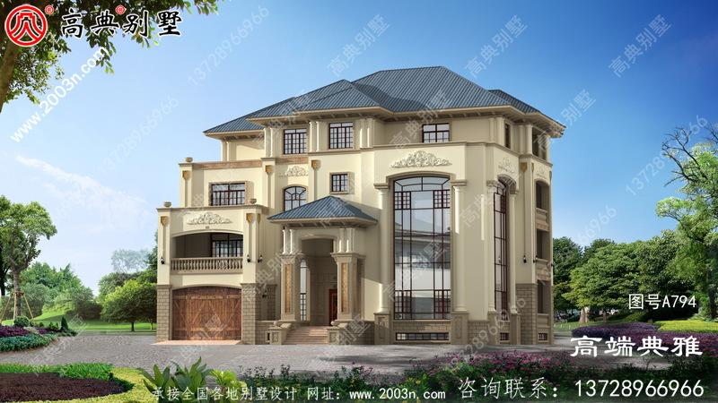 四层新农村住宅设计图,乡村别墅设计图(包括外观效果图)