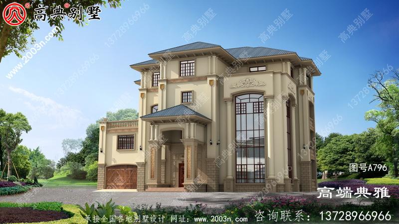 新农村欧式建设三层房屋设计图,新农村住宅工程图纸选萃