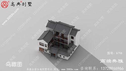 新农村三层住宅设计图纸,中式风格占地238平