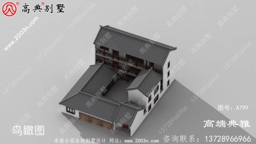 新农村中式三层住宅设计图带车库