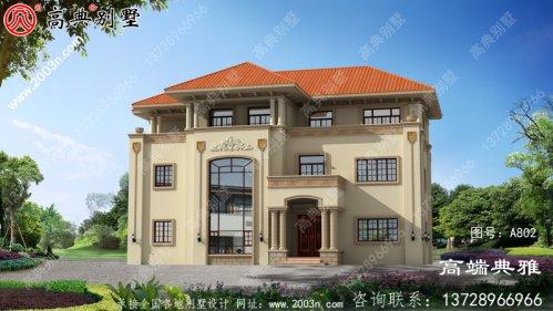 新农村欧式三层别墅住宅设计图纸全集(含设计