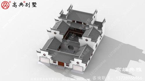 新农村中式三层住宅设计图纸(含效果图)