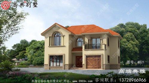 外型看上去高档、奢侈的二层小别墅设计图纸,