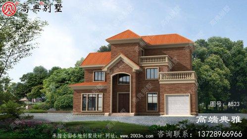 經典好用的新农村建设三层房屋设计图纸带露台