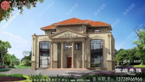 豪华双复式三层欧式别墅住宅的经典实用设计图