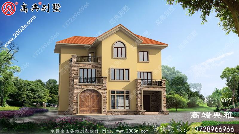 简欧146平方米自建三层小别墅设计施工图及效果图。