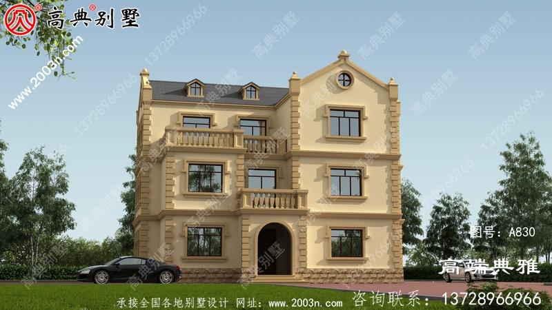 经典简欧三层别墅设计施工图纸和效果图
