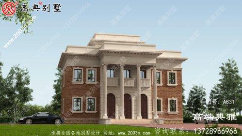 171平方米欧式三层房子别墅设计图