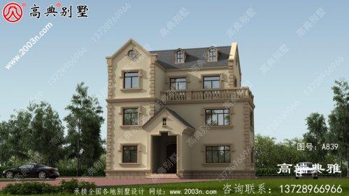 126平方米自建三层小户型别墅设计图及效果图