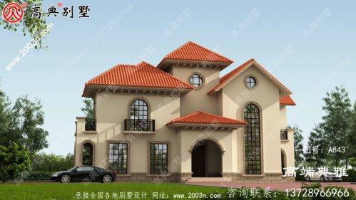 占地193平的西班牙三层别墅设计图,包括效果图