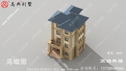 法式三层别墅住宅别墅设计图及效果图占地117平