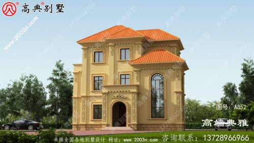 新农村建设建造三层小复式构造房子别墅设计图