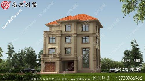 新农村建设四层复式住宅别墅设计图纸及效果图