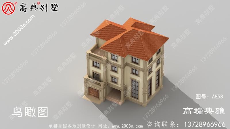 新农村建设四层复式住宅别墅设计图纸及效果图带车库