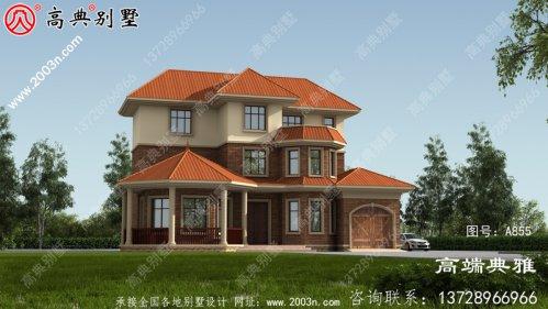 新农村欧式自建三层复合结构别墅设计图及效果