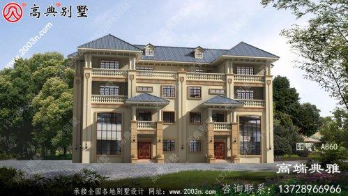 275平方米欧式古典双拼四层自建别墅
