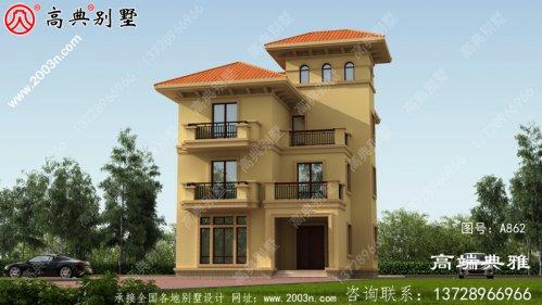 欧式四层别墅设计施工图纸及效果图