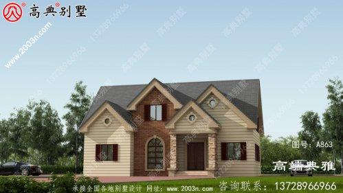 美式两层别墅设计,包括外观效果图,适合经济