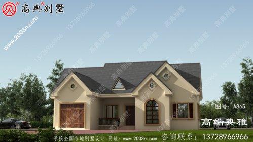 两层别墅的设计图,包括外观效果