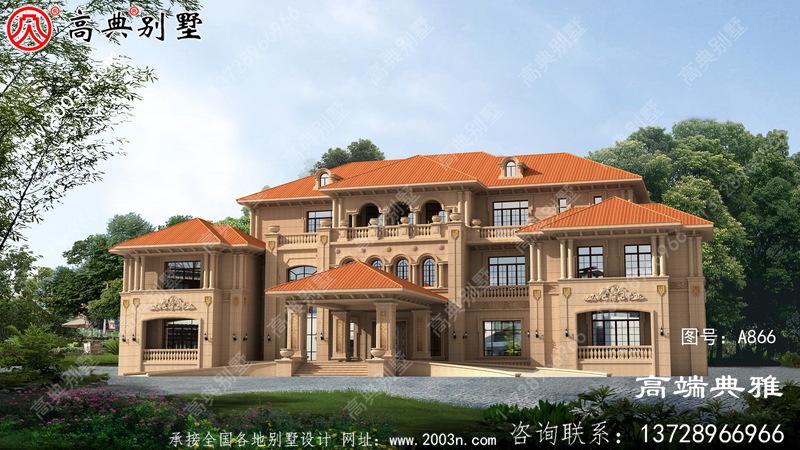 中国南方新农村豪华大户型三层房屋设计图全集