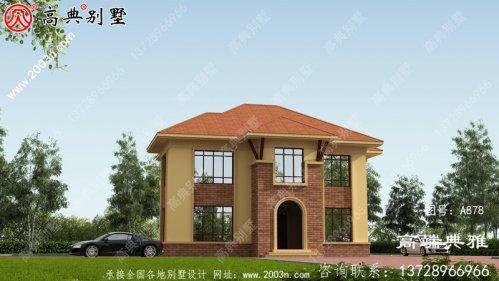 独特美丽的简欧二层别墅的设计图,包括外观效