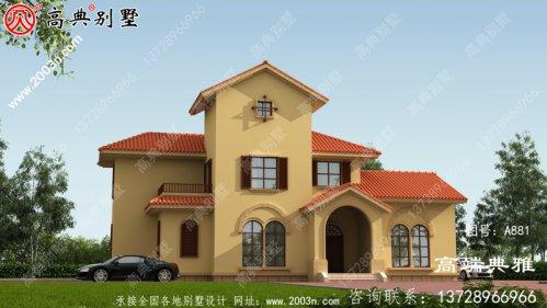 私人二层乡村自建房设计图及设计效果图,工程