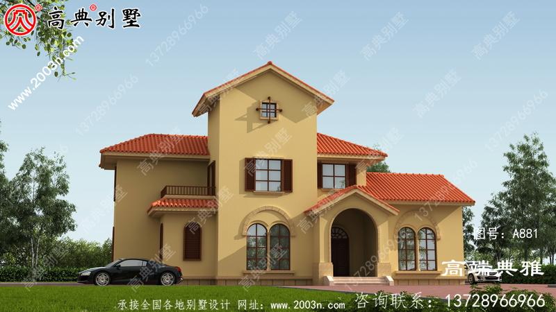 私人二层乡村自建房设计图及设计效果图,工程造价30万内