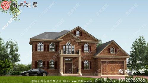 私人二楼农村自建建筑设计图和效果图占地158平