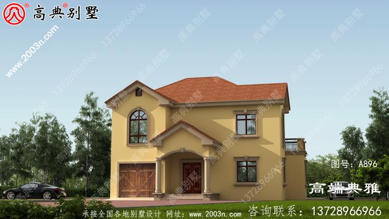私家二楼农村自营住宅的设计图和效果图