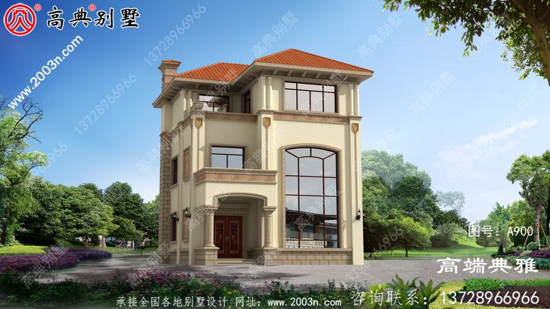 推荐一栋三层小别墅的设计图,制造成本在30万内占地92平